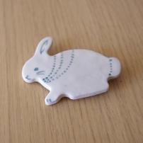 Bunny Ceramic Brooch