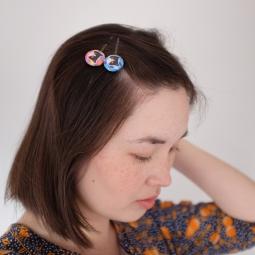 Panko the cat hair clips