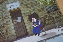 Panko drinking milk postcard
